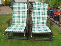 two reclining chairs