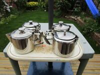 4 stainless steel tea pots Cafe type