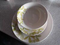 12 piece porcelain dinner set