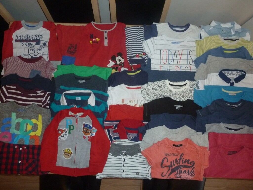 7899a1756d Boys Clothes/Clothing Bundle Age 2-3 & 3-4 Years - 38 Items (Mainly Tops) |  in Wimborne, Dorset | Gumtree