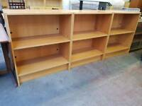Modern two tier shelving units (x3 in stock)