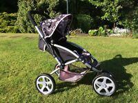 Girls Toy Pushchair Stroller