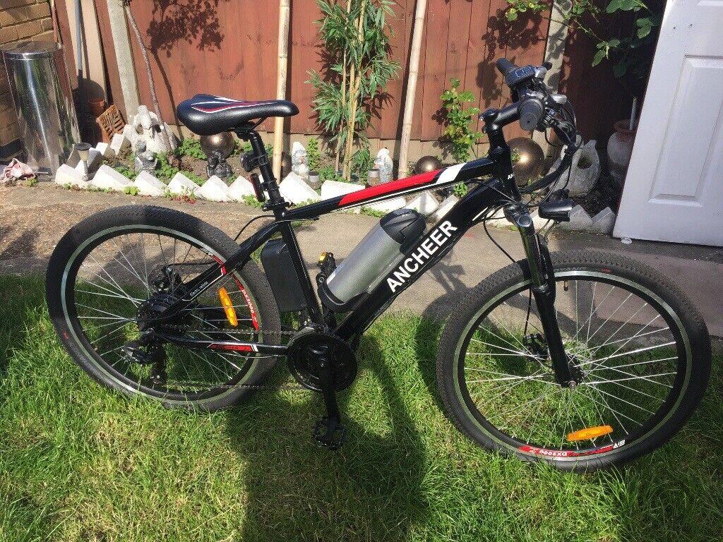 d65227cdbc8 Ancheer Electric Mountain Bike Disc Brakes 21speed Twist grip Throttle Must  See Bargain