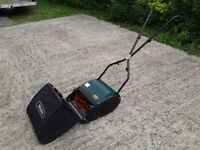 WEBB CYLINDER HAND PUSH LAWN MOWER LAWNMOWER WITH REAR ROLLER AND GRASS BOX ALLOTMENT CARAVAN