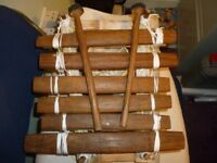 traditional african hand made musical instrument played with two stiks provded,stanmore,middlesex...