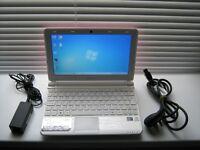 MSI U180 netbook..LAPTOP ATOM PROCESSOR 1GB RAM 250GB STORAGE WIN7 Pink & WHITE