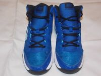 Boys Navy and White Nike Air high tops size 5.5