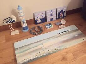Nautical theme accessories / decoration for bathroom or other room