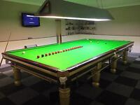 Full size slate bed snooker table (not pool)