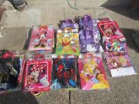 Joblot 150 Childrens Disney / Marvel Character Strong Gift Loot Party Celebration Bags