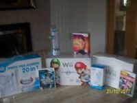 Wii console Mario Kart with Wheel plus extras-Nearly new and Excellent condition