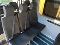 Mini bus seats - set of 6 complete with brackets. Good condition.