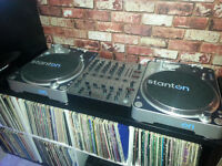 Stanton Direct Drive Decks/Turntables Plus Mixer and Reloop CD