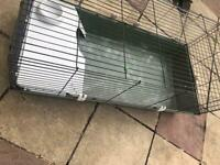 Green guinea pig/rabbit cage