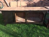 Rabbit / Guinea pig Hutch and a run