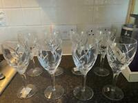 John Rocha Signature Waterford Lead Crystal white wine glasses x8