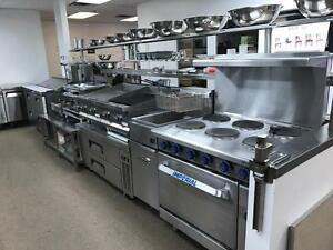 COMMERCIAL ELECTRIC DEEP FRYERS AND STOVE, IMPERIAL RESTAURANT RANGES WITH OVEN, DOUBLE / TWO BASKET FRYER, BRAND NEW