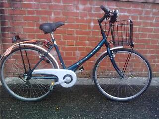 FOR SALE: Italian Cicli Cinzia Ladies 5 Speed Retro Style Low Step Through Ladies Town Bike - Kitted