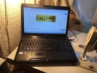"Fast Toshiba satellite C660 dual core wifi DVD wide 15.6"" glossy screen good battery no offers"
