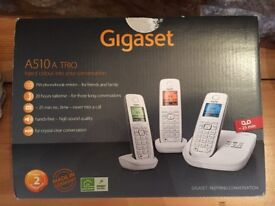 Gigaset A510a Trio Cordless set of 3 phones with Answer Phone