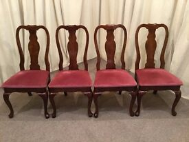 Antique Dining Chairs 4 Edwardian Queen Anne Dining Chairs