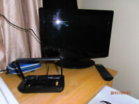 """16"""" Currys Essential HD TV (built in freeview) with arial."""