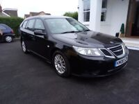 08 Plate Saab 9-3 Diesel Automatic Estate. Long MOT, Excellent condition just £1295 ono, PX Welcome