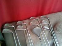FANTASTIC SET OF 10 GOLF CLUBS,VERY GOOD CONDITION,HARDLY USED