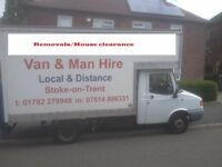 Man and van/ Stoke on trent/Newcastle/Leek/Crewe/Stafford/Alsager/ all surrounding areas.