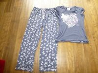 Good used condition Size 8 sleepwear incl. 3 sets of pj's and 1 babydoll nightdress & 3 t shirts