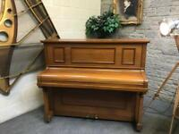 Steinmayer, Harrods Upright Lightwood Piano - CAN DELIVER