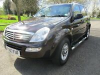 2007 07 SSANGYONG REXTON RX 270 SPORT D ESTATE LOW 103K ALLOYS 2 AND 4 WHEEL DRIVE SIDESTEPS PX-SWAP