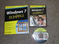 Windows 7 for Dummies. Book and DVD. (As new)
