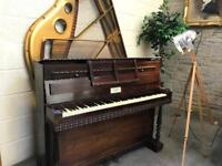 1895 Ornate French Miniature Upright Piano by A. Bord, Paris - CAN DELIVER