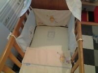 COT BED SWING withBEDDING and 2 MATTRESS