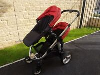 iCandy Apple 2 Pear Double Pram - Full travel system. Pushchair suitable for newborn and toddler.