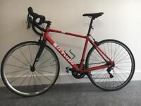 Carbon BTWIN racer Road bike, 500 Triban bicycle