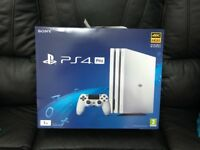 Sony PlayStation 4 Pro Glacier White 1TB Console Brand New + Receipt (SEALED)