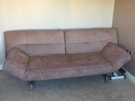 Gorgeously soft 3-seater sofa bed