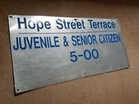 Falkirk Football Club - Original Brockville Hope Street Terrace Turnstile Sign