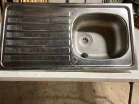 USED - Stainless steel sinks
