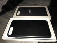 Iphone 7plus leather case Black