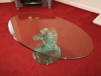 Green Apple Glass Coffee Table