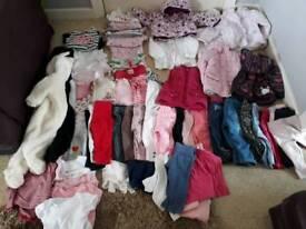 Massive bundle of girls clothes 6-9 months