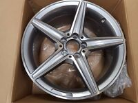 """Mercedes Style 5 Solid Spokes Alloys 18"""""""