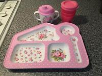 Cath Kidston tray and cup plus 3 small containers