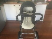 Babystyle Lux Pram with pushchair cradle suitable from birth.