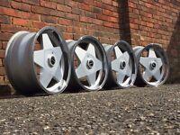 Borbet A deep dish alloy wheels, 18inch, 5x112 Vw Transporter T4, Audi etc