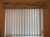 vertical blind cream suit window 100 cm high x 110 wide approx