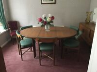 G Plan 4 6 Seater Extendable Dining Table With Chairs
